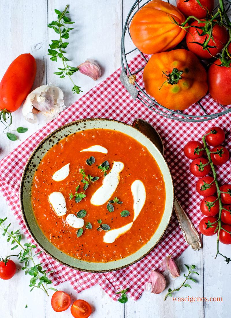 Rezept: Tomatensuppe - frisch, würzig, einfach selbst gemacht   waseigenes.com   Rezepte für jeden Tag   Was koche ich heute?