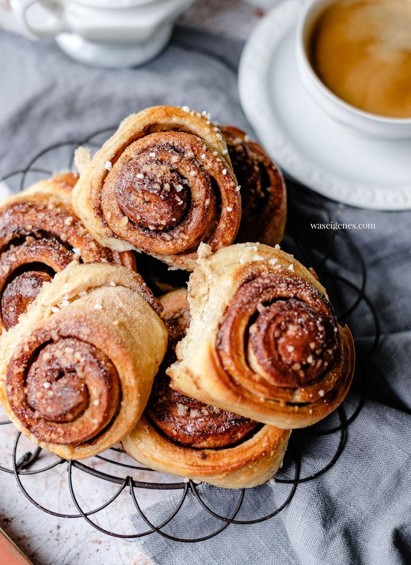 Rezept: Schwedische Zimtschnecken! Fluffige Hefeschnecken mit Zimt und Kardamom   waseigenes.com - Bine Güllich   Was backe ich heute? Familienrezepte